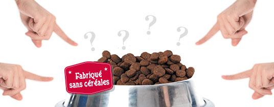 les croquettes sans céréales: une arnaque ?
